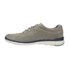 Casual leather sneakers bata, gray , 843-2627 - 26