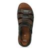 Men's leather sandals bata, brown , 866-4610 - 17