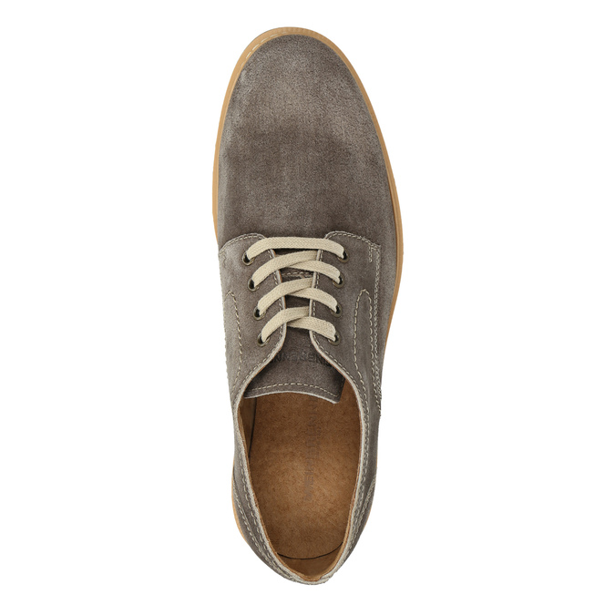 Leather shoes on a contrasting sole weinbrenner, brown , 823-4607 - 19