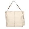Handbag with tassels bata, beige , 961-8703 - 26