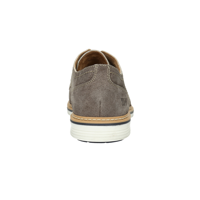Leather shoes on a contrasting sole weinbrenner, brown , 823-4607 - 17