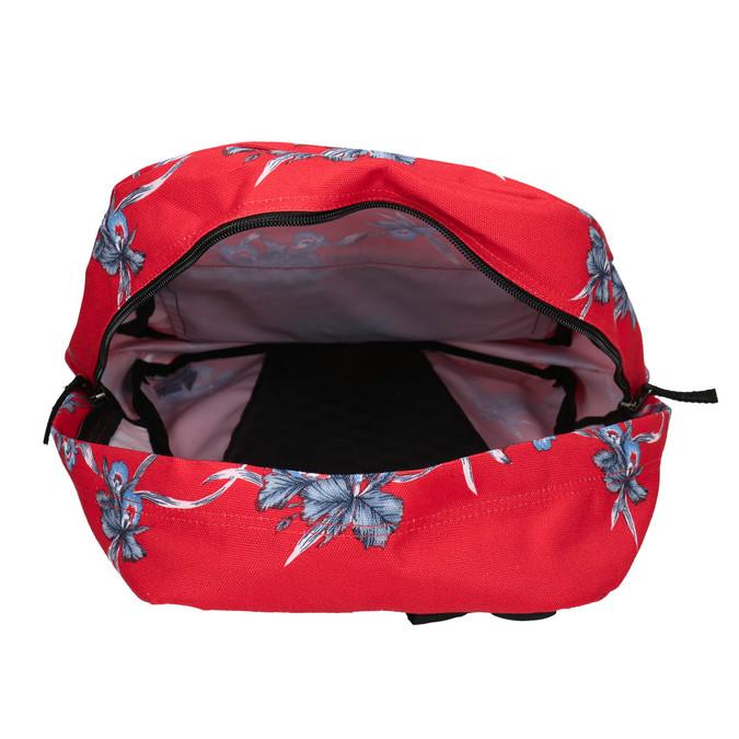Red patterned backpack vans, red , 969-5093 - 15