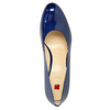Patent leather pumps hogl, blue , 728-9400 - 19