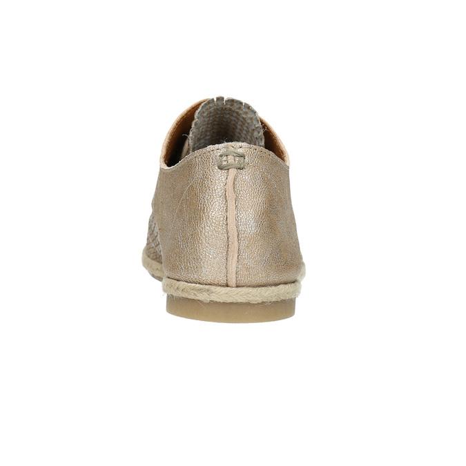 Ladies' leather shoes bata, beige , 526-8629 - 17