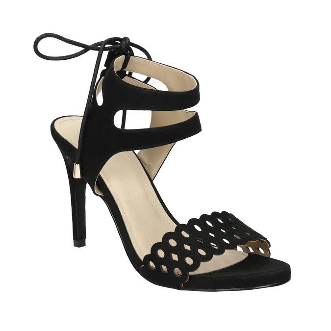 Black stiletto sandals bata, black , 769-6603 - 13