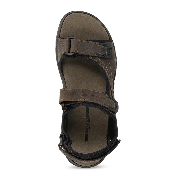 Leather sandals with Velcro fasteners weinbrenner, 866-4631 - 17