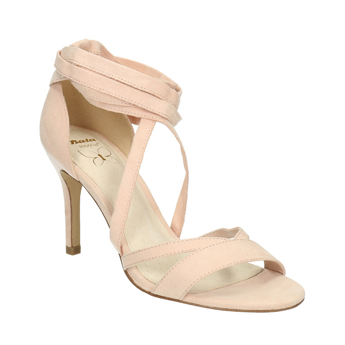Heeled lace-up sandals insolia, pink , 769-5613 - 13