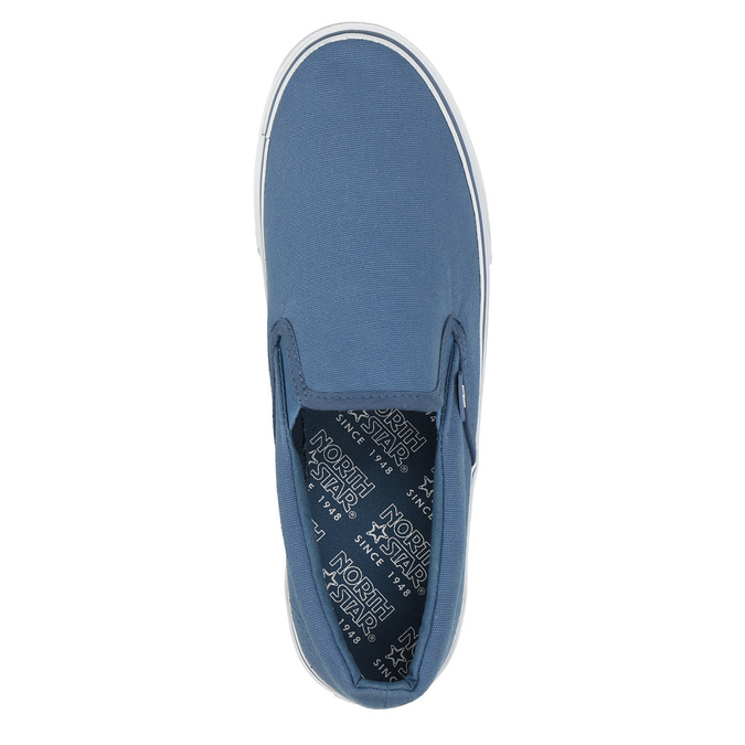 Blue slip-ons north-star, blue , 889-9286 - 19