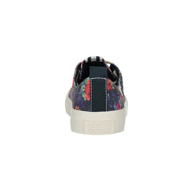 Ladies' sneakers with floral pattern north-star, black , 589-6446 - 17