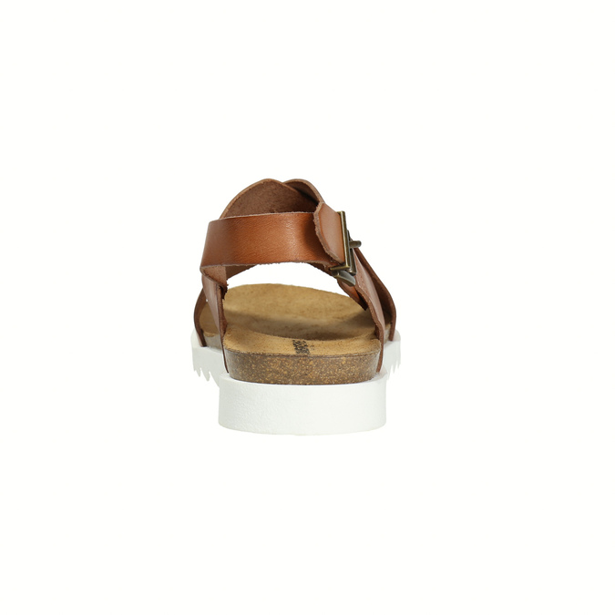 Ladies' interlacing leather sandals weinbrenner, brown , 566-4628 - 17
