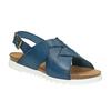 Ladies' leather sandals weinbrenner, blue , 566-9628 - 13