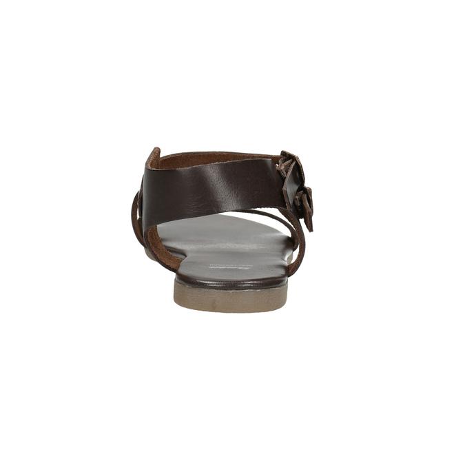 Brown leather sandals bata, brown , 566-4613 - 17