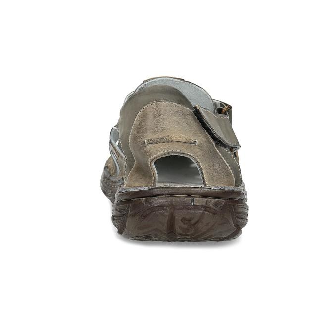Men's leather sandals bata, brown , 866-2622 - 15