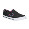 Ladies' slip-ons with coloured trim north-star, black , 589-6440 - 13