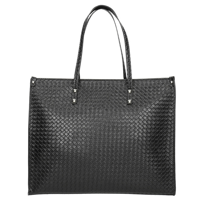 Handbag with a knit pattern marie-claire, black , 961-6540 - 26