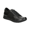 Casual leather sneakers bata, black , 524-6606 - 13