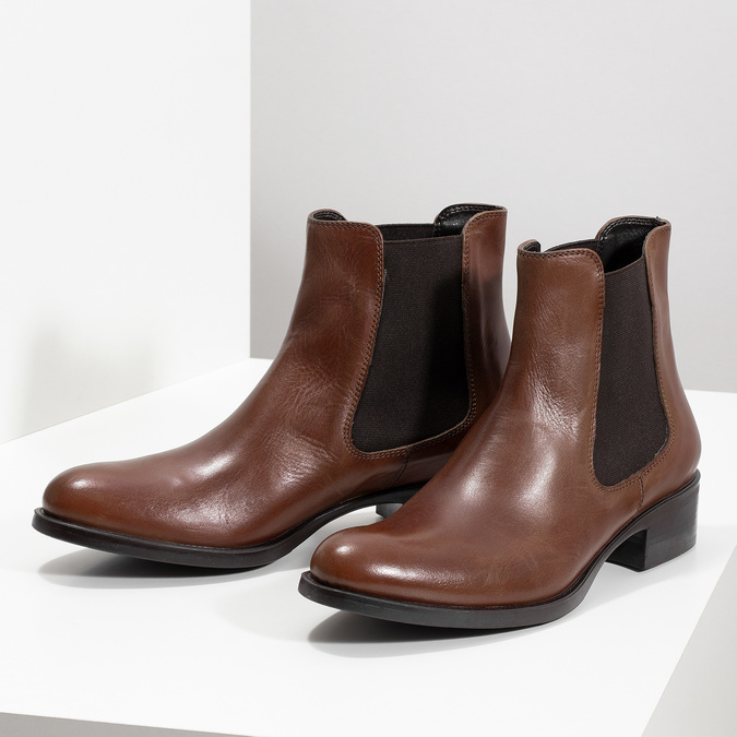 Leather Chelsea footwear bata, brown , 594-4448 - 16