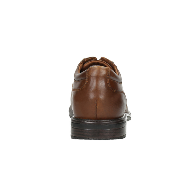 Brown leather shoes with stitching rockport, brown , 826-4020 - 17