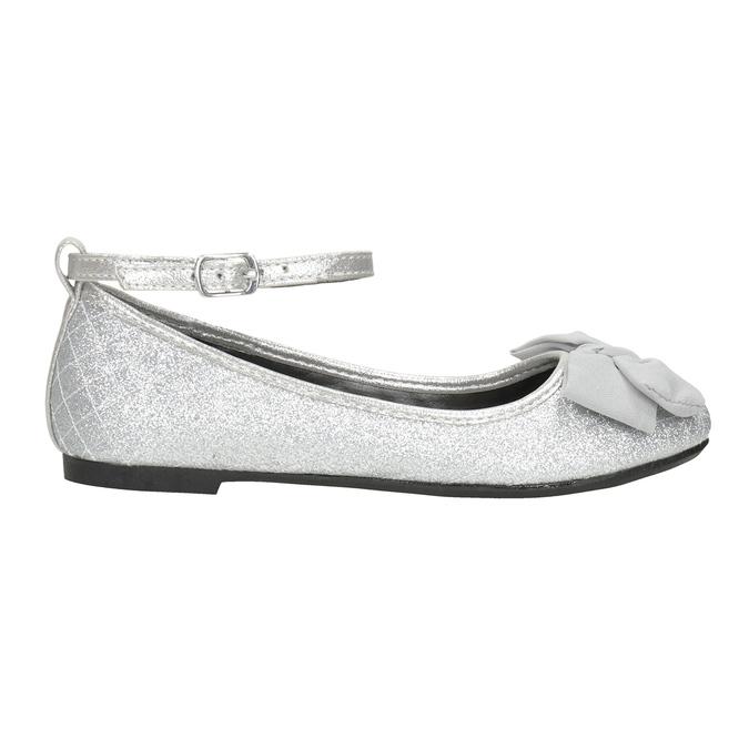 Girls' Silver Sandals mini-b, silver , 329-1286 - 26