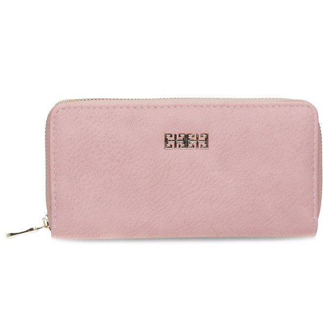 Pink ladies' wallet bata, pink , multicolor, 941-0180 - 26