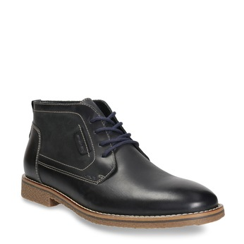 Men's ankle boots with stitching bata, black , 826-6614 - 13
