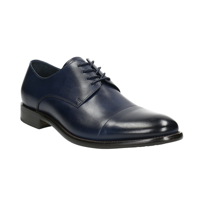 Men's leather Derby shoes bata, blue , 826-9682 - 13
