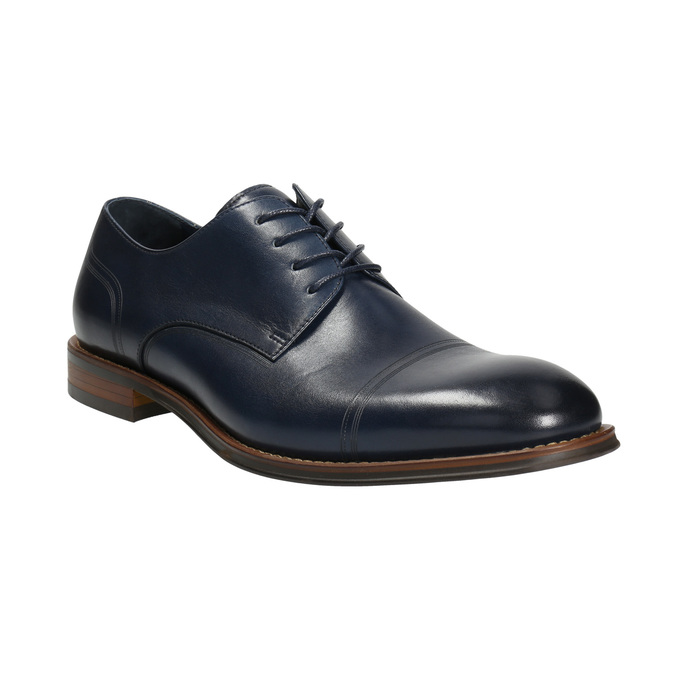 Casual leather shoes blue bata, blue , 826-9681 - 13