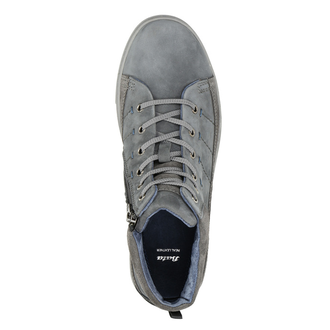 Men's ankle sneakers bata, gray , 846-2651 - 26