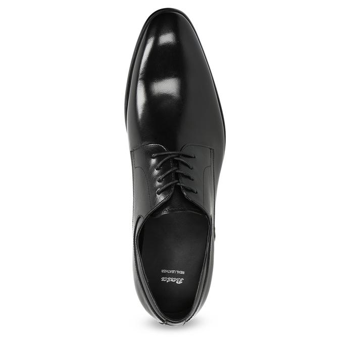 Men's leather Derby shoes bata, black , 824-6233 - 17