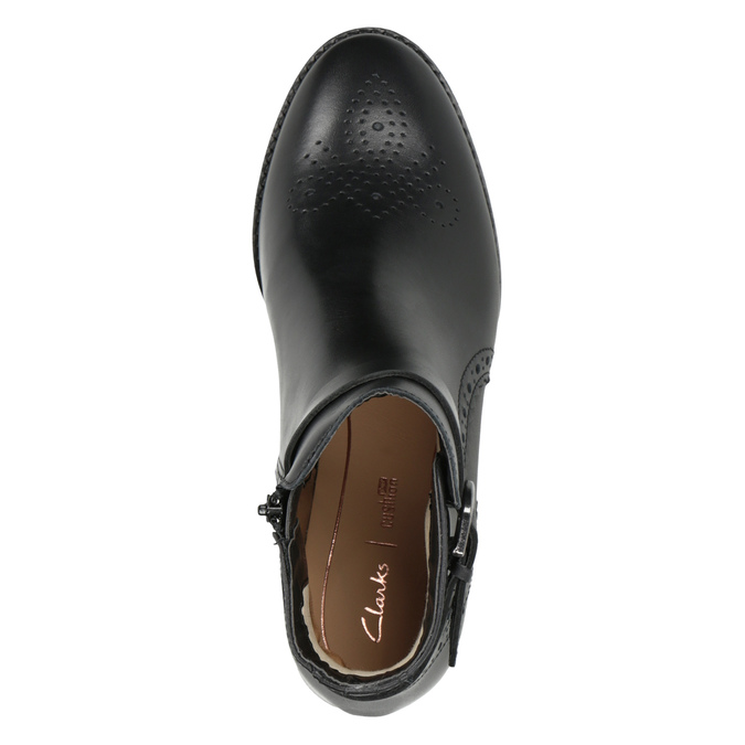 Embellished Leather Ankle Boots clarks, black , 614-6027 - 15