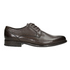 Brown leather Derby shoes bata, brown , 824-4618 - 15
