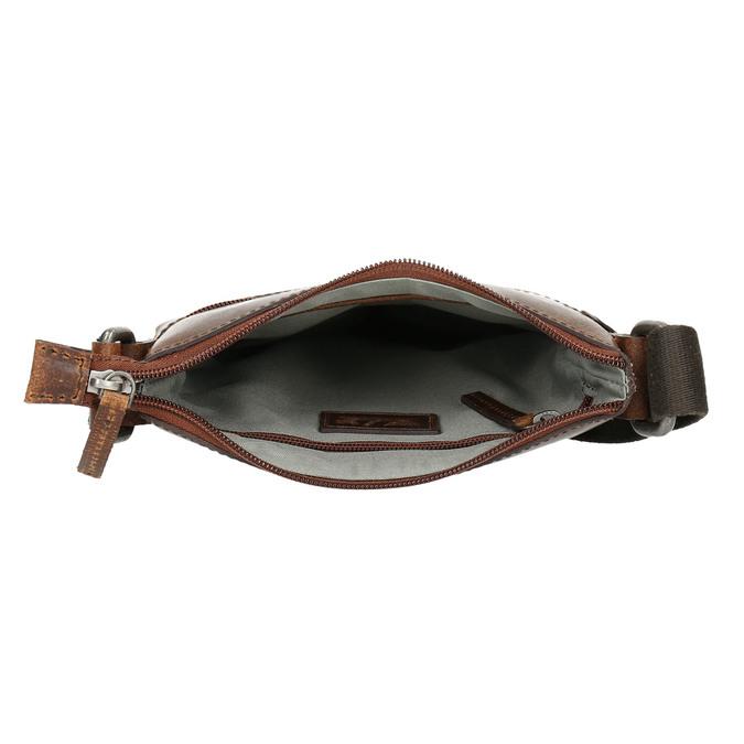 Men's leather crossbody bag bata, brown , 964-4140 - 15