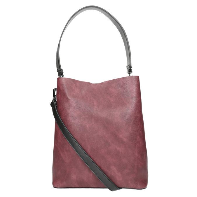 Ladies' two-tone handbag bata, black , 961-6173 - 26