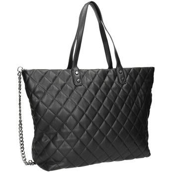 Quilted Handbag with Chain bata, black , 961-6139 - 13