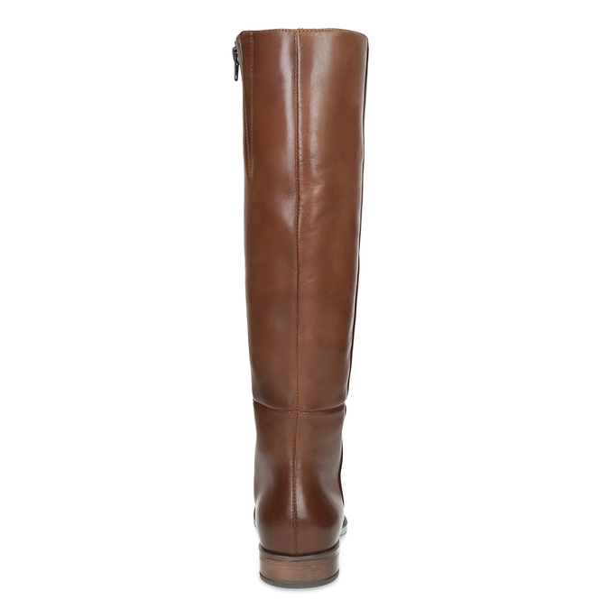 Brown Leather High Boots bata, brown , 594-4637 - 15