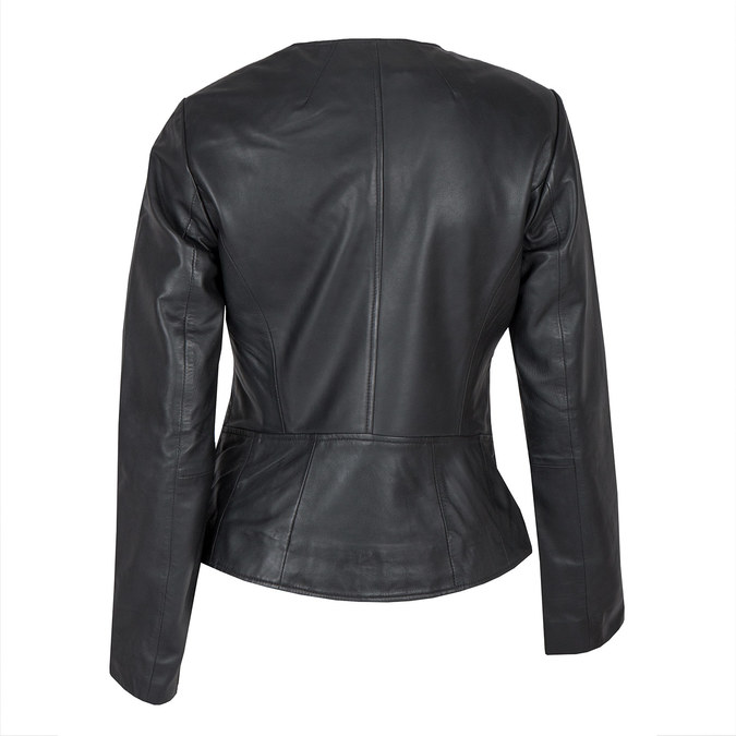 Ladies' Leather Jacket bata, black , 974-6177 - 26