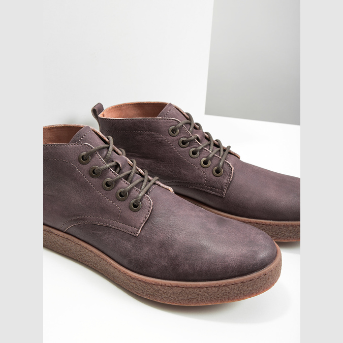 Men's leather ankle boots bata, brown , 846-4652 - 14