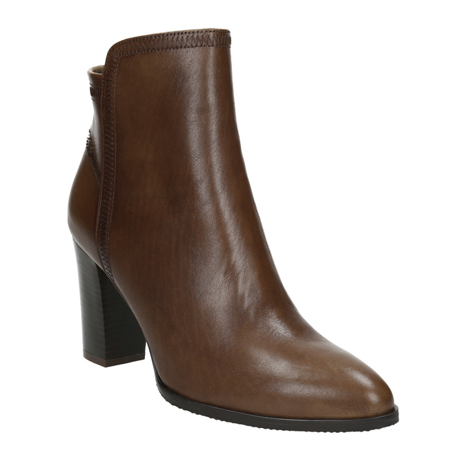 Leather Ankle Boots bata, brown , 794-4650 - 13