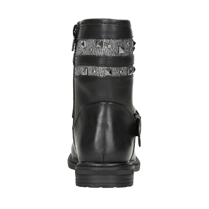 Girls' High Boots with Studs mini-b, black , 291-6398 - 16
