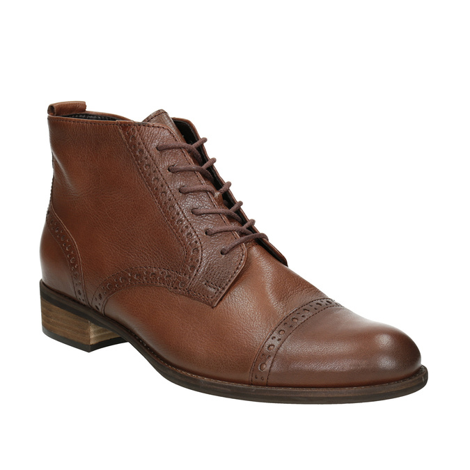 Ladies' Leather Ankle Boots gabor, brown , 526-3038 - 13