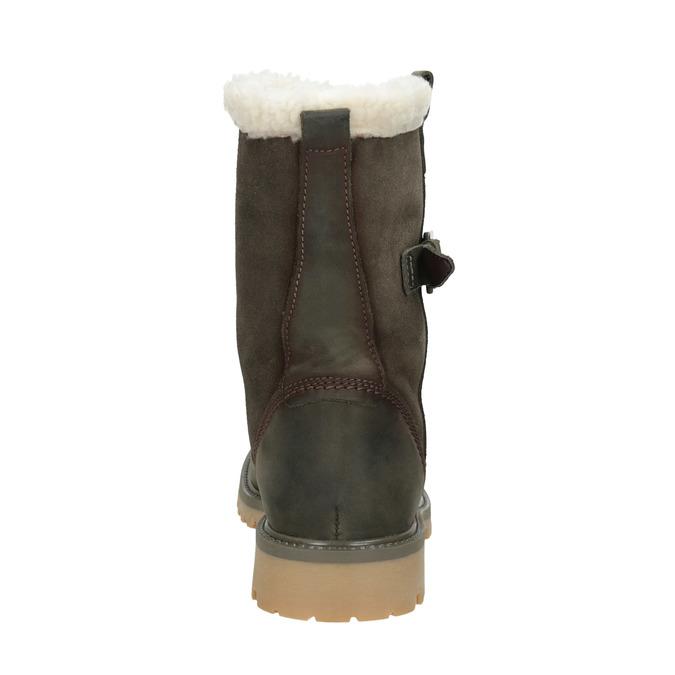 Ladies' winter boots with fur weinbrenner, khaki, 594-2455 - 16