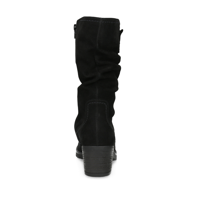 Leather High Boots with Stitching gabor, black , 796-6151 - 15