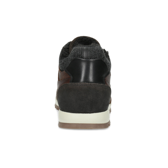 Leather Winter Sneakers bata, brown , 846-4646 - 15