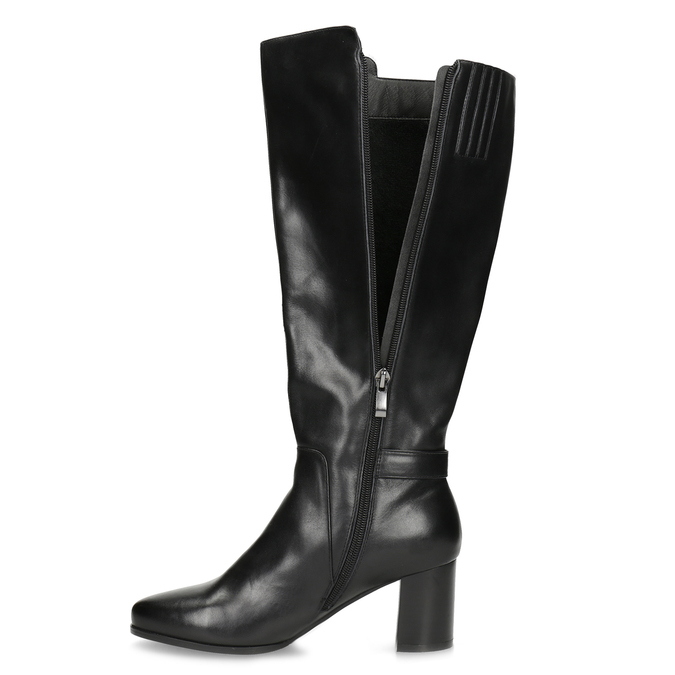 Ladies' Leather High Boots bata, black , 694-6639 - 17