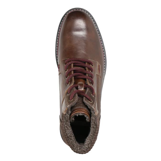 Men's Winter Ankle Boots bata, brown , 896-4657 - 26