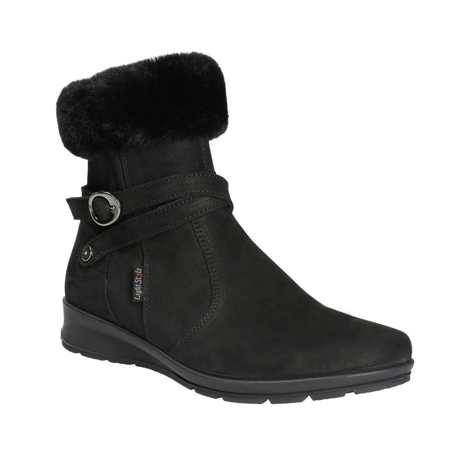 Ladies' Winter Boots with Fleece comfit, black , 696-6623 - 13
