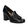 Leather pumps with a massive heel clarks, black , 724-6040 - 13