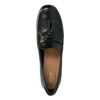 Leather pumps with a massive heel clarks, black , 724-6040 - 15