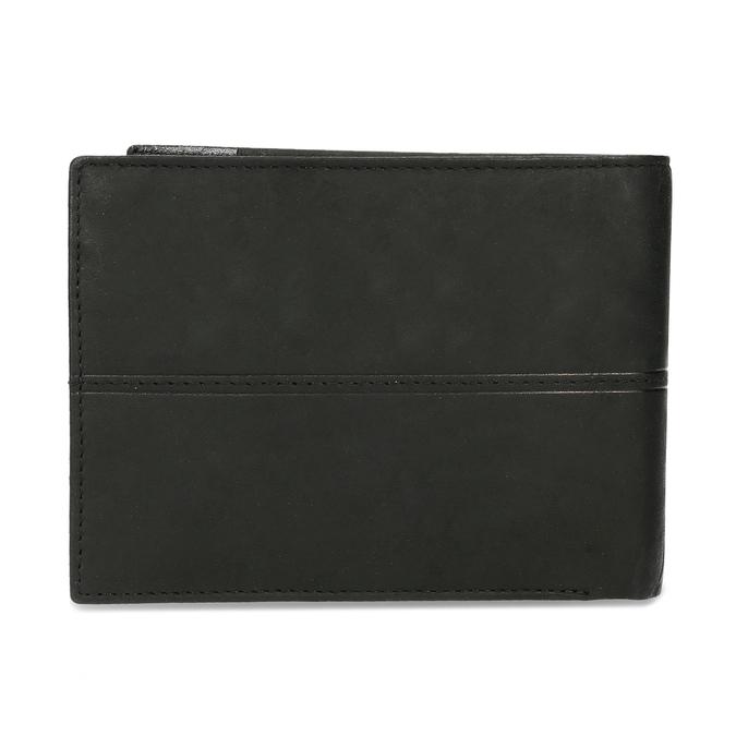 Men's leather wallet bata, black , 944-6188 - 16