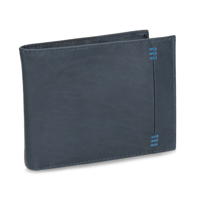Men's leather wallet bata, blue , 944-9188 - 13